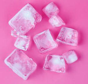 кубики льда от отеков под глазами с утра