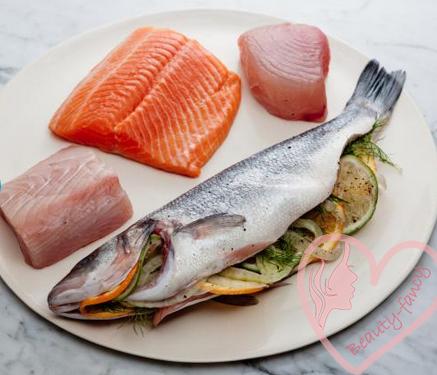 пища для здоровых волос - лосось