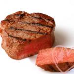 пища для здоровых волос - говядина