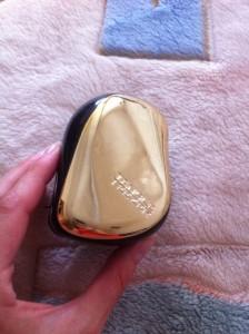 Расческа - золотой металлик