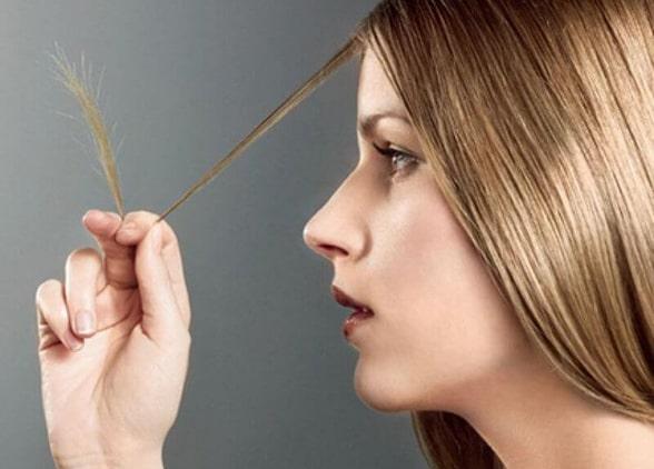 Ломкие кончики волос