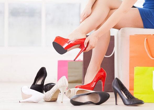 женские туфли - как разносить